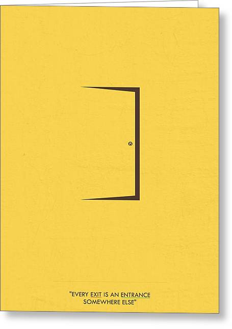 Frame House Digital Greeting Cards - Minimalist Art Quotes Poster Greeting Card by Lab No 4 - The Quotography Department