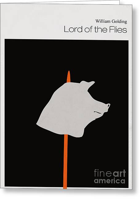 Literature Greeting Cards - Minimalist book cover lord of the flies Greeting Card by Budi Satria Kwan