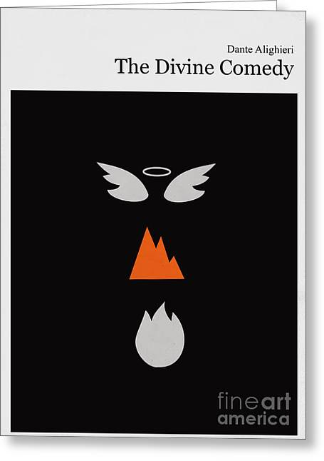 Divine Greeting Cards - Minimalist book cover the divine comedy Greeting Card by Budi Satria Kwan