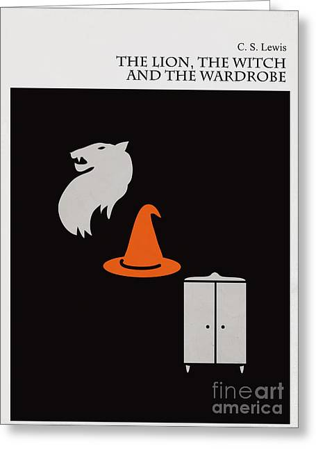 The Lion Witch Wardrobe Greeting Cards - Minimalist book cover the lion the witch and the wardrobe Greeting Card by Budi Kwan