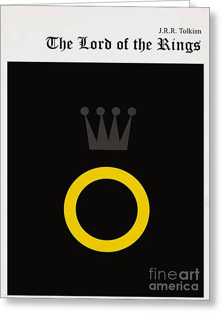 Jackets Greeting Cards - Minimalist book cover the lord of the ring Greeting Card by Budi Kwan