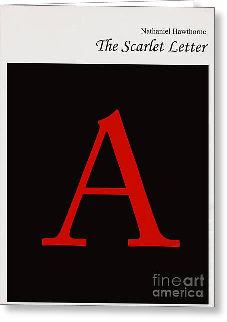 Jackets Greeting Cards - Minimalist book cover the scarlet letter Greeting Card by Budi Kwan