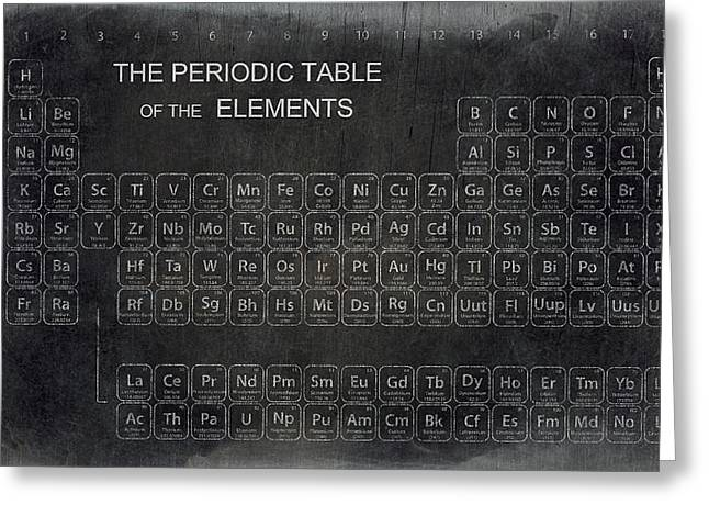 Lab Digital Art Greeting Cards - Minimalist Periodic Table Greeting Card by Daniel Hagerman