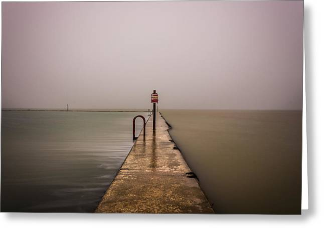 Seaside Photographs Greeting Cards - Minimalist Seascape - 3 Greeting Card by Ian Hufton