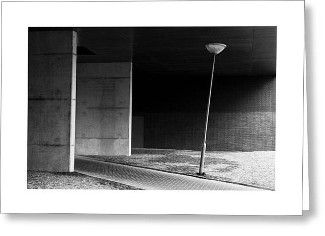 Streetlight Pyrography Greeting Cards - Minimalistic Greeting Card by Robert Versteegen