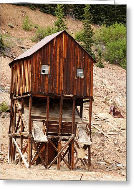 Old House Photographs Photographs Greeting Cards - Mining Area Greeting Card by Dan Sproul