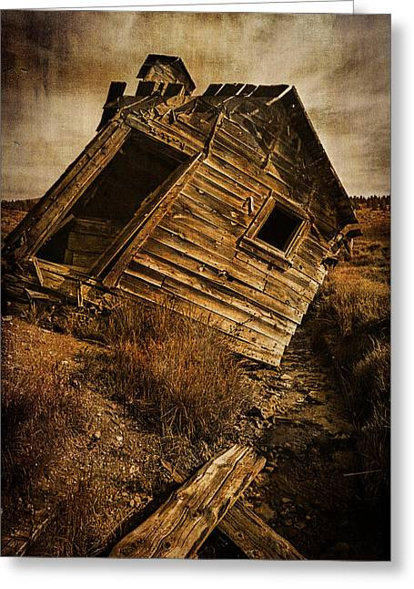 Dilapidated Greeting Cards - Quartz Mountain 8 Greeting Card by YoPedro