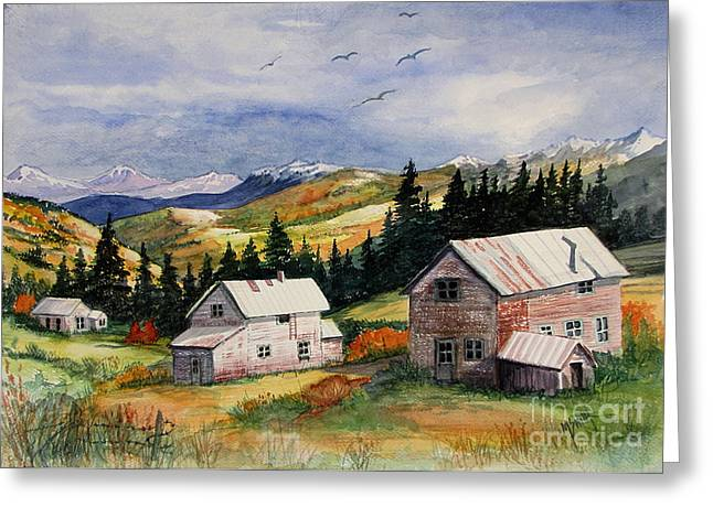 Unpainted Greeting Cards - Mining Days Over Greeting Card by Marilyn Smith