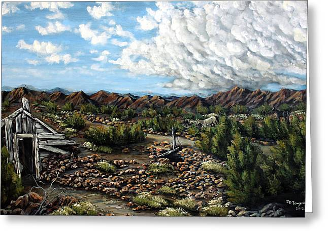 Pinion Paintings Greeting Cards - Mining Nevada Greeting Card by Julie Townsend
