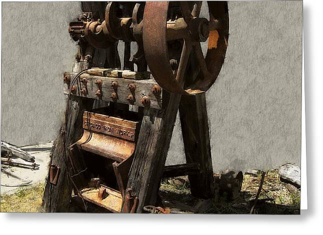 MINING PORTABLE STAMP MILL Greeting Card by Daniel Hagerman