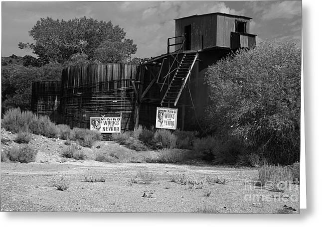 Miners Ghost Greeting Cards - Mining Works for Nevada Greeting Card by Cheryl Young