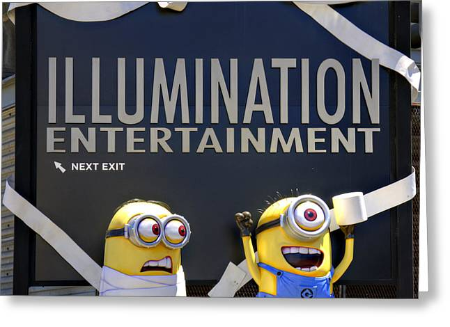 Despicable Me Greeting Cards - Minions Are Sneaky Greeting Card by Ricky Barnard