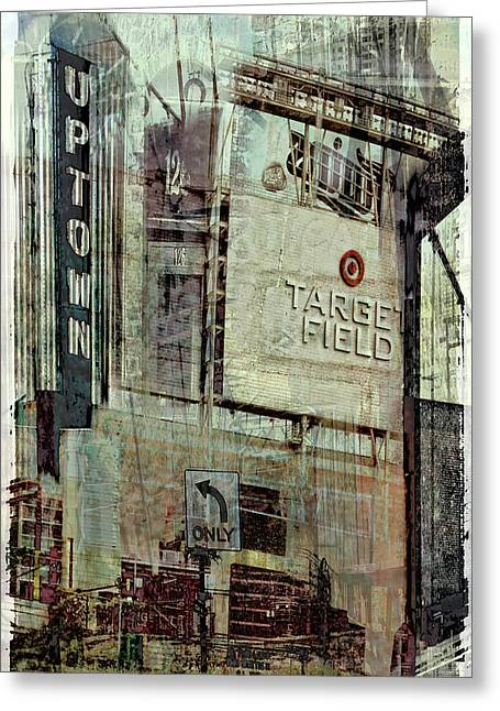 Target Field Greeting Cards - Minneapolis Area Collage Greeting Card by Susan Stone