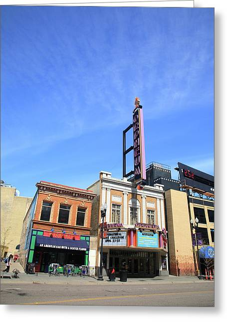 Night Diner Prints Greeting Cards - Minneapolis - Bar and Theater Greeting Card by Frank Romeo