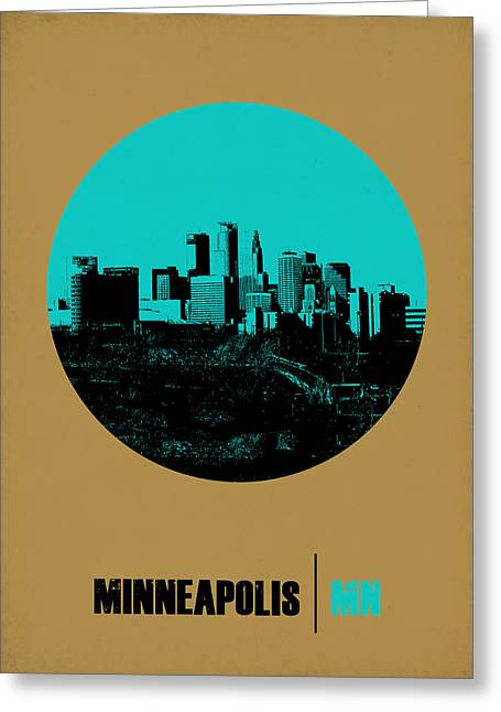 Nostalgic Greeting Cards - Minneapolis Circle Poster 1 Greeting Card by Naxart Studio