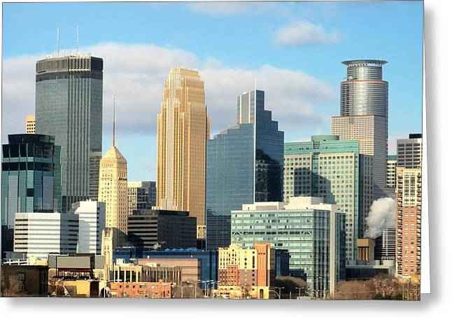 Hennepin Greeting Cards - Minneapolis city skyline Greeting Card by Jim Hughes