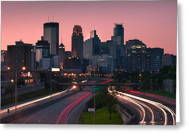 Traffic Greeting Cards - Minneapolis in Motion Greeting Card by Josh Eral