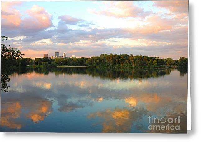Isle Greeting Cards - Minneapolis Lakes Greeting Card by Heidi Hermes