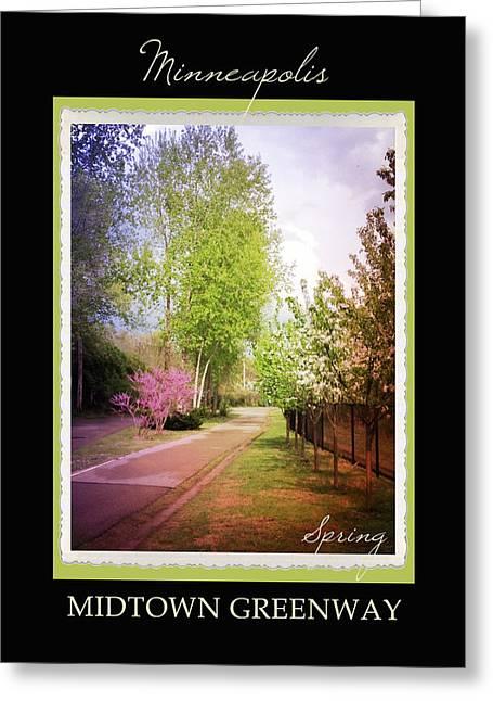 Hennepin Greeting Cards - Minneapolis Seasons Spring Greeting Card by Heidi Hermes