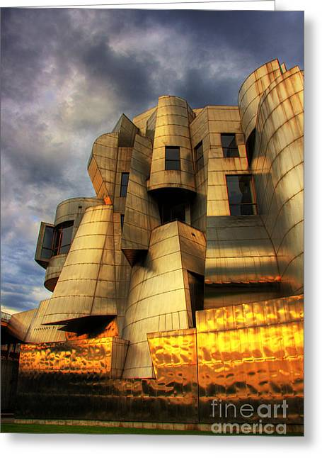 Minneapolis Skyline Photography Weisman Museum Greeting Card by Wayne Moran