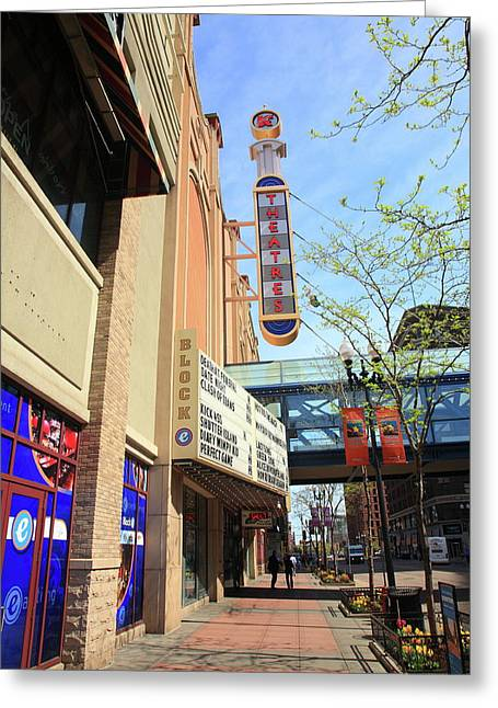 Hennepin Greeting Cards - Minneapolis - Theater District Greeting Card by Frank Romeo
