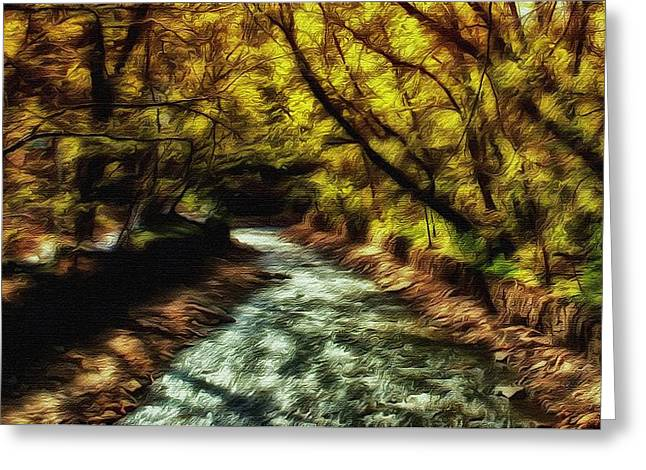 Beautiful Creek Mixed Media Greeting Cards - Minnehaha Creek 4 Greeting Card by Todd and candice Dailey