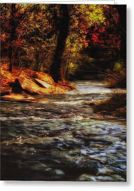 Beautiful Creek Mixed Media Greeting Cards - Minnehaha Creek Greeting Card by Todd and candice Dailey