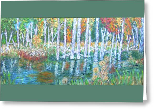 Carolyn Donnell Greeting Cards - Minnesota Autumn Greeting Card by Carolyn Donnell