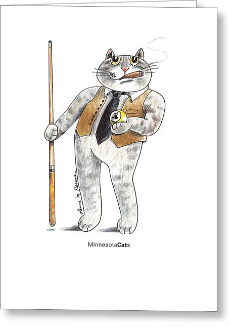 Tevis Greeting Cards - Minnesota CATs Greeting Card by Louise McClain Reeves