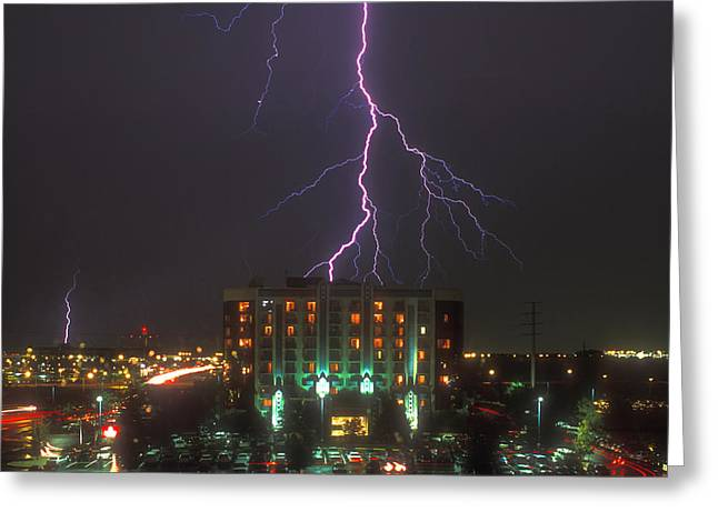 Electrical Digital Art Greeting Cards - Minnesota Electrical Storm Greeting Card by Mike McGlothlen