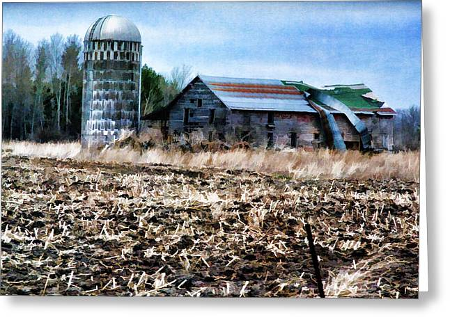 Minnesota Grown Photographs Greeting Cards - Minnesota Farm Greeting Card by Todd and candice Dailey