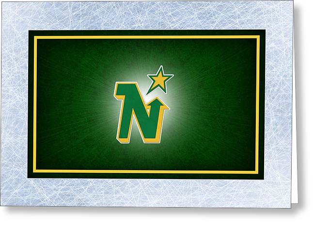 Skates Greeting Cards - Minnesota North Stars Greeting Card by Joe Hamilton