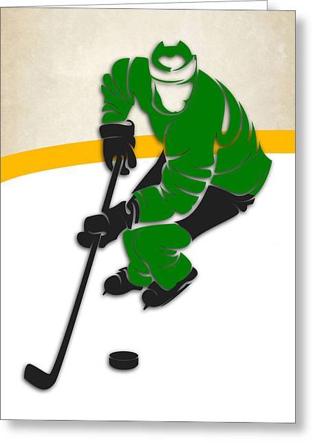 North Star Greeting Cards - Minnesota North Stars Rink Greeting Card by Joe Hamilton