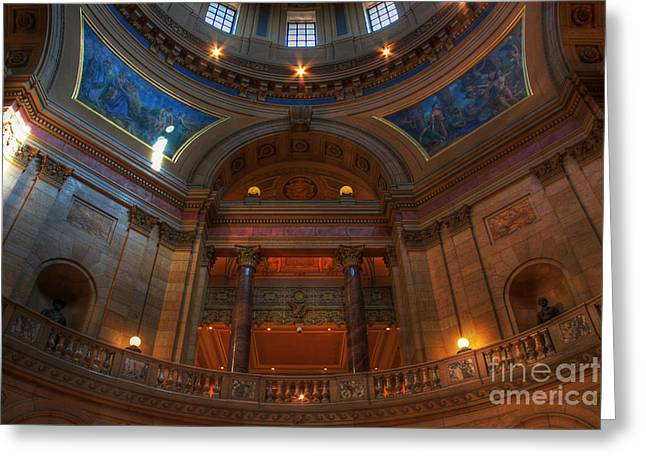 St Paul Greeting Cards - Minnesota State Capitol Balcony Greeting Card by Wayne Moran