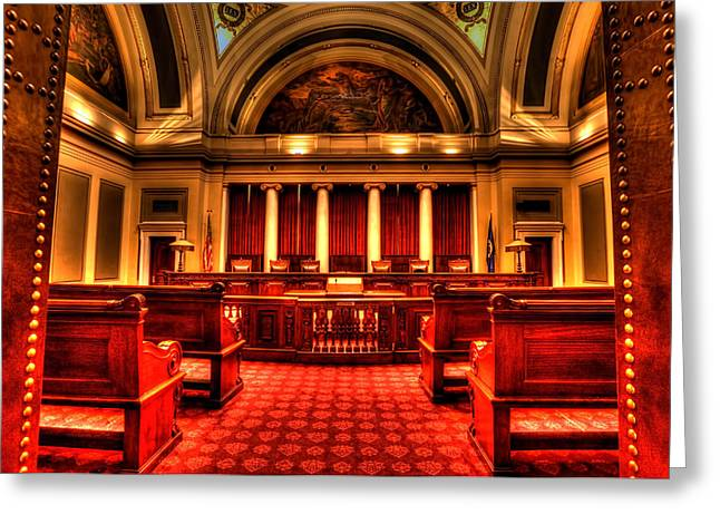 Decree Greeting Cards - Minnesota Supreme Court Greeting Card by Amanda Stadther