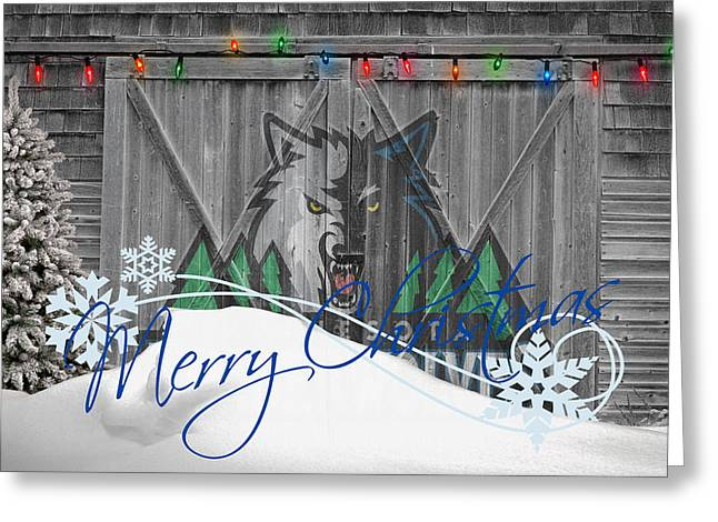 Dunk Photographs Greeting Cards - Minnesota Timberwolves Greeting Card by Joe Hamilton