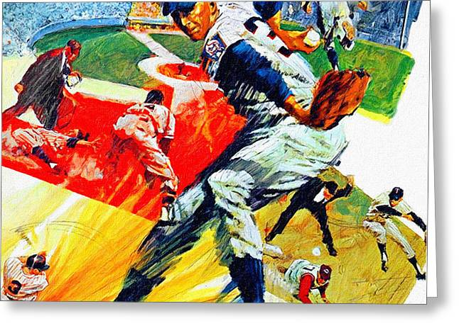 Minnesota Twins 1968 Yearbook Artwork Greeting Card by Big 88 Artworks