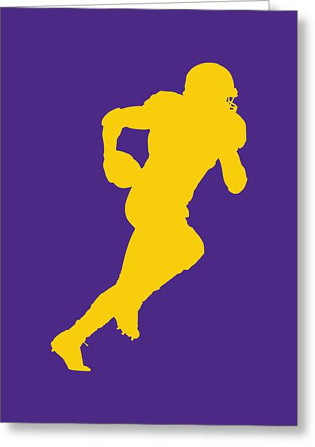 Peterson Greeting Cards - Minnesota Vikings Adrian Peterson Greeting Card by Joe Hamilton