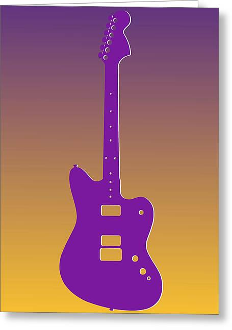 Concert Bands Photographs Greeting Cards - Minnesota Vikings Guitar Greeting Card by Joe Hamilton