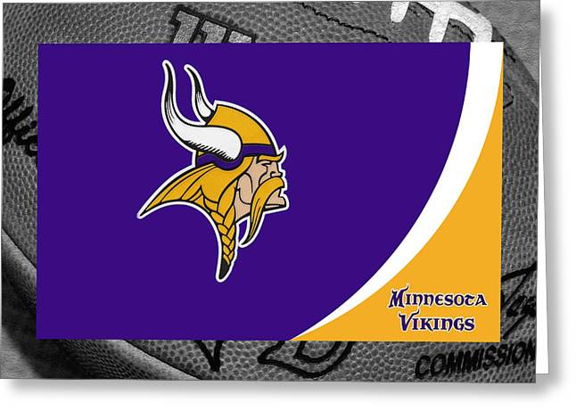 Minnesota Photographs Greeting Cards - Minnesota Vikings Greeting Card by Joe Hamilton