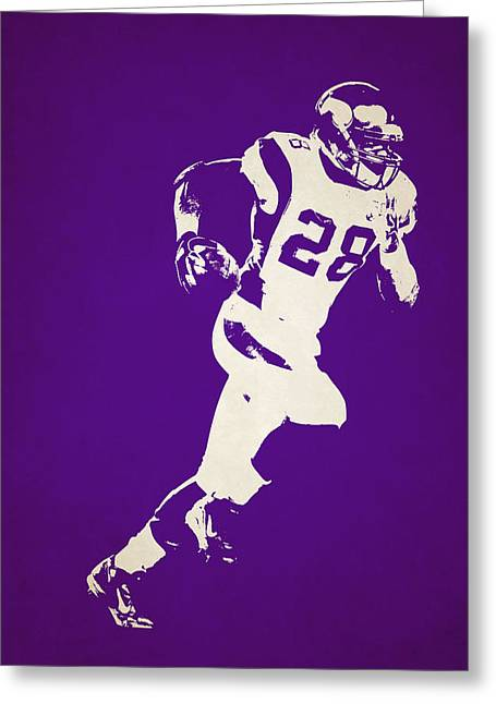 Peterson Greeting Cards - Minnesota Vikings Shadow Player Greeting Card by Joe Hamilton