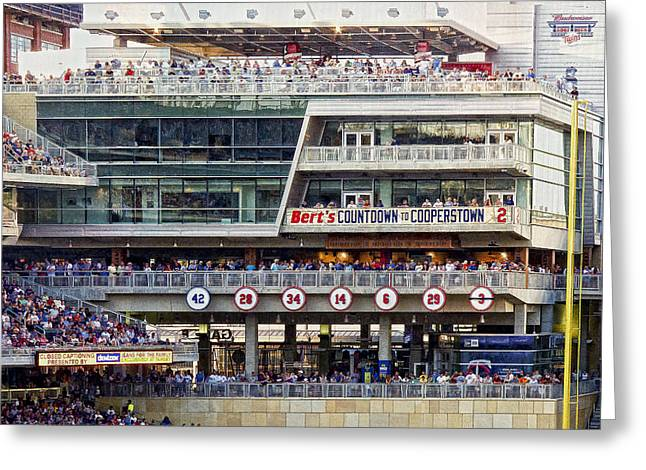 Target Field Greeting Cards - Minnesotas Berts Countdown  to Cooperstown Greeting Card by Susan Stone