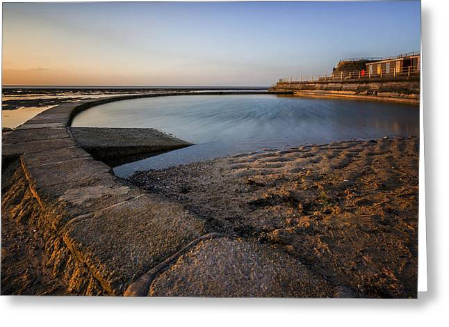 Beach Sunsets Greeting Cards - Minnis Bay Thanet Greeting Card by Ian Hufton