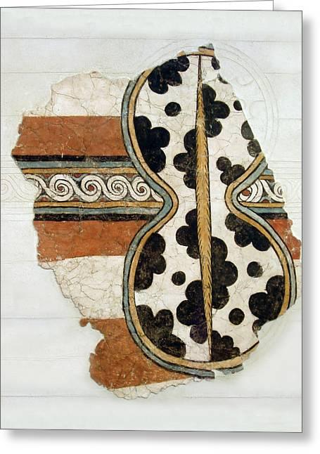 Minoan Livestock Painting Greeting Card by Ellen Henneke