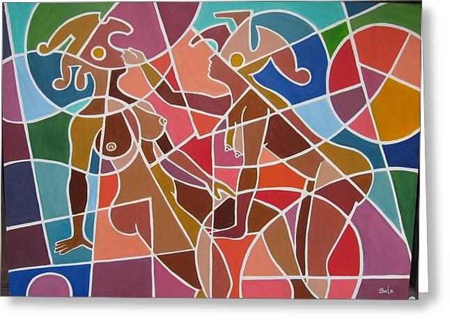 Minoan Lovers Greeting Card by Bala Deva
