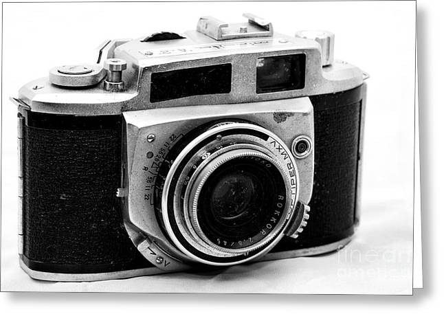 Rangefinder Greeting Cards - Minolta A-2 Greeting Card by John Rizzuto