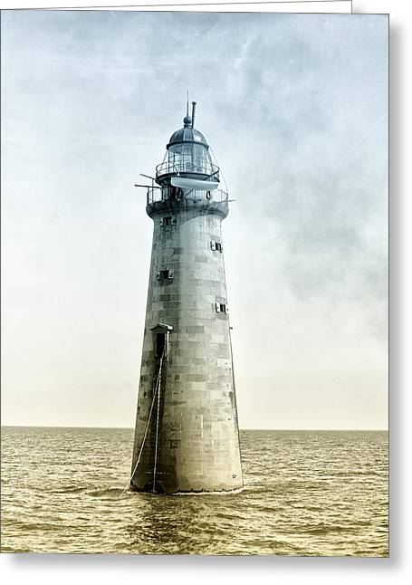 Ledge Greeting Cards - Minots Ledge Lighthouse Greeting Card by Digital Reproductions