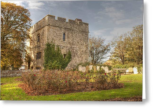 Minster Abbey Greeting Cards - Minster Abbey Gatehouse Greeting Card by Dave Godden