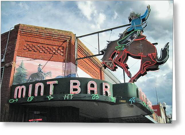Dereske Greeting Cards - Mint Bar Sheridan Wyoming Greeting Card by Mary Lee Dereske