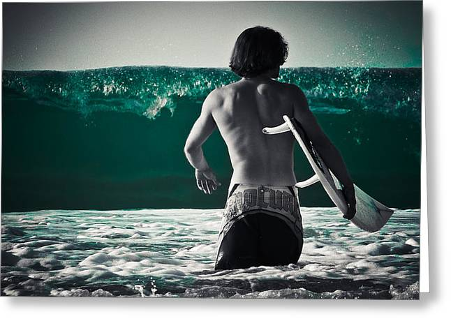 Loriental Greeting Cards - Mint Surf Greeting Card by Loriental Photography